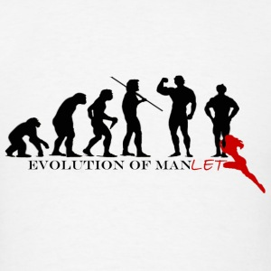 Evolution of Manlet Tank Tops - Men's T-Shirt