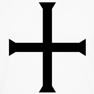 medieval gothic square cross  Tank Tops - Men's Premium Long Sleeve T-Shirt