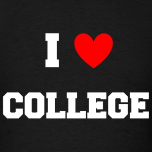 I Love College Party Design Tank Tops - Men's T-Shirt