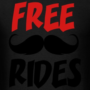 Free Moustache Rides - Men's T-Shirt