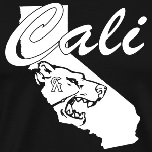 CALI Bear Map Tank Tops - Men's Premium T-Shirt
