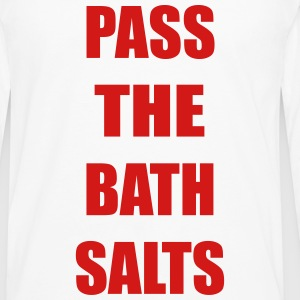 Pass The Bath Salts Funny Vector Design Tank Tops - Men's Premium Long Sleeve T-Shirt