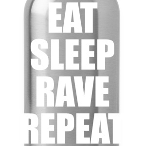 Eat Sleep Rave Repeat EDM Design Tank Tops - Water Bottle