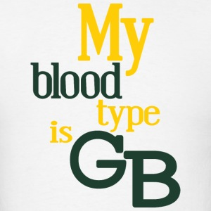 My Blood Type Is Green Bay Clothing Apparel Shirts Tank Tops - Men's T-Shirt