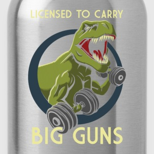 License to Carry Big Guns Tank Tops - Water Bottle