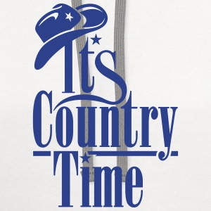 IT'S COUNTRY TIME Tank Tops - Contrast Hoodie