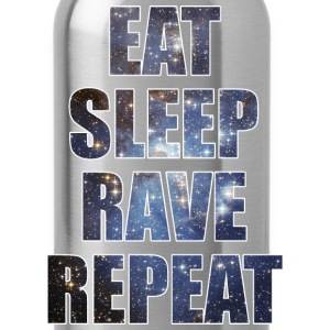 Eat Sleep Rave Repeat EDM Stars Design Tank Tops - Water Bottle