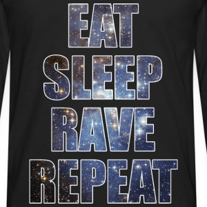 Eat Sleep Rave Repeat EDM Stars Design Tank Tops - Men's Premium Long Sleeve T-Shirt