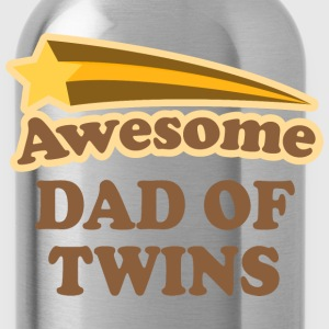 Awesome Dad Of Twins T-Shirts - Water Bottle