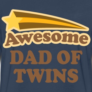 Awesome Dad Of Twins T-Shirts - Men's Premium Long Sleeve T-Shirt