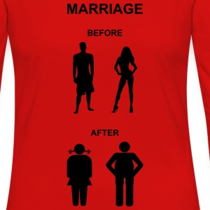 Marriage before / after T-Shirts - Women's Premium Long Sleeve T-Shirt