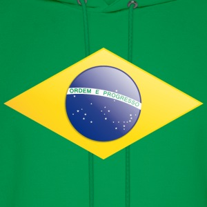 Brazilian flag rectangle  - Men's Hoodie