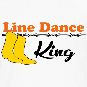 Line Dance King T-Shirts - Men's Premium Long Sleeve T-Shirt