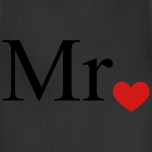 Mr with heart dot (Mr and Mrs set) T-Shirts - Adjustable Apron