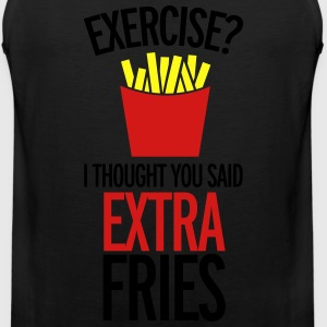 Extra Fries T-Shirts - Men's Premium Tank