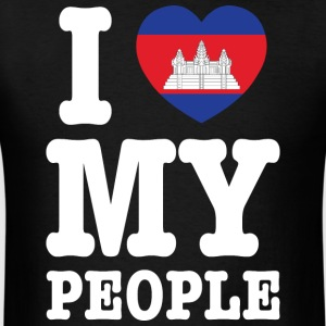 I Heart (Love) My Khmer People Tank Tops - Men's T-Shirt