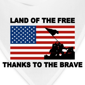 Land Of The Free Thanks To The Brave T-shirt - Bandana