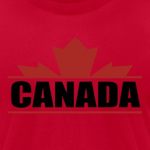 Red CANADA Sweatshirt - Men's T-Shirt by American Apparel