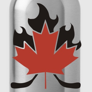Maple Leaf Hockey Stick Cross - Water Bottle