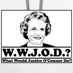 W.W.J.O.D. What would Justice O'Connor Do? T-Shirts - Contrast Hoodie