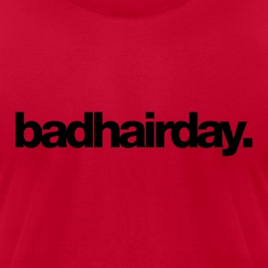 Red Badhairday Men - Men's T-Shirt by American Apparel
