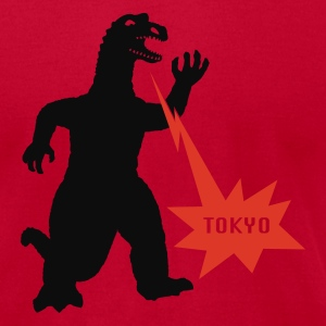 Red Godzilla Tokyo by Stellar Men - Men's T-Shirt by American Apparel