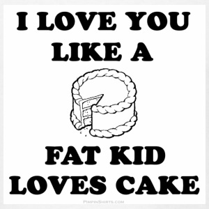 White fat kid loves cake Sweatshirt - Men's T-Shirt