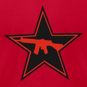 Red Armed Star Logo Men - Men's T-Shirt by American Apparel