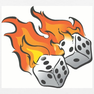 White/black Flaming Dice T-Shirts - Men's Premium Tank