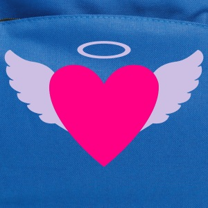 Navy Wing Heart Angel Women's T-Shirts - Computer Backpack