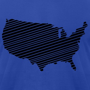 Royal blue USA - United States of America Hoodies - Men's T-Shirt by American Apparel