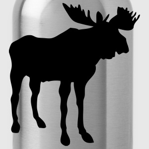Brown moose T-Shirts - Water Bottle