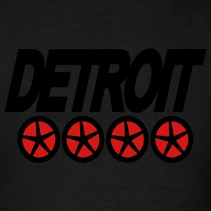 Black Detroit On Wheels Sweatshirts - Men's T-Shirt