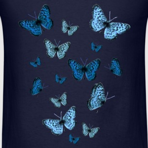 Navy Blue Butterflies Sweatshirts - Men's T-Shirt