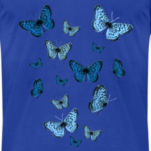 Royal blue Blue Butterflies Sweatshirts - Men's T-Shirt by American Apparel