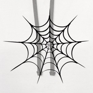 White spider web Kids' Shirts - Contrast Hoodie