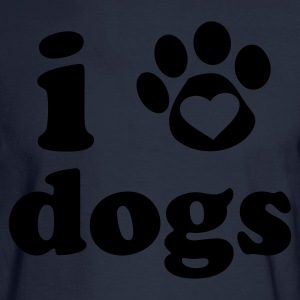 I Heart Dogs Women's T-Shirt - Men's Long Sleeve T-Shirt