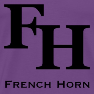 French Horn - Men's Premium T-Shirt