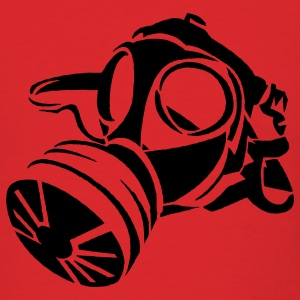 Red Gas Mask Stencil Hoodies - Men's T-Shirt