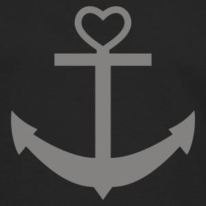 anchor heart  - Men's Premium Long Sleeve T-Shirt