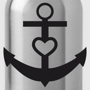 anchor heart  - Water Bottle