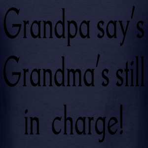Navy grandpa_says Sweatshirts - Men's T-Shirt