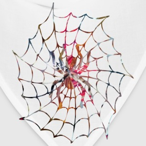 White ART SPIDER in WEB Hoodies - Bandana
