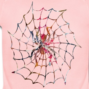 Pink ART SPIDER in WEB Sweatshirts - Short Sleeve Baby Bodysuit
