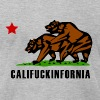 Heather grey Califuckinfornia T-Shirts - Men's T-Shirt by American Apparel