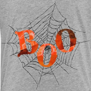 Heather grey BOO in Spider Web Sweatshirts - Toddler Premium T-Shirt