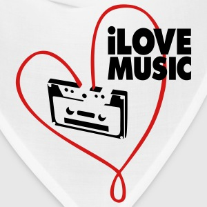 White i_love_music Women's T-Shirts - Bandana