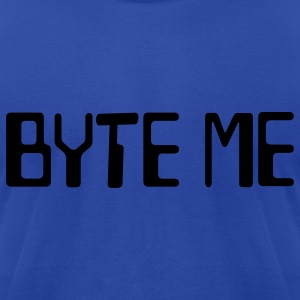 Byte Me Hooded Sweatshirt - Men's T-Shirt by American Apparel