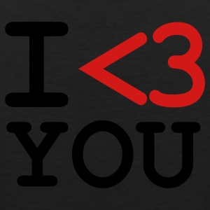 Black i love you T-Shirts - Men's Premium Tank