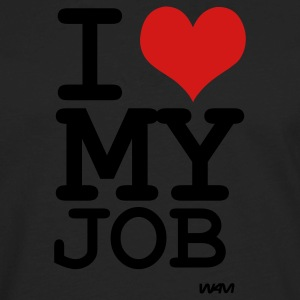 Black i love my job by wam Women's T-Shirts - Men's Premium Long Sleeve T-Shirt